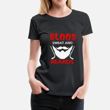 Ice Hockey Beard Blood beard sweat ice hockey playoff gift - Women's Premium T-Shirt