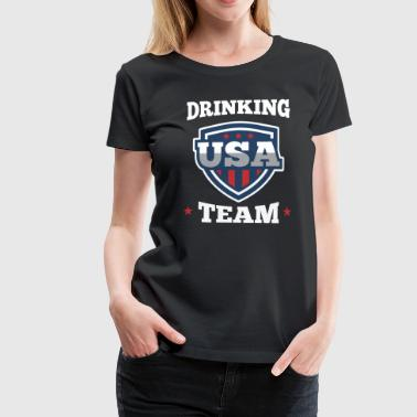 Bachelor Party USA Drinking Team Beer Party Wear Gift - Women's Premium T-Shirt