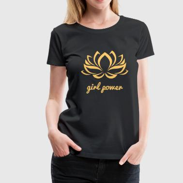 Girl Power Yoga Lotus Flower Power Girl Power Girl - T-shirt Premium Femme