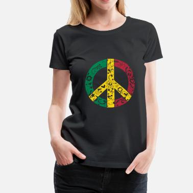 Peace-and-love-rasta RastaLove - T-shirt Premium Femme