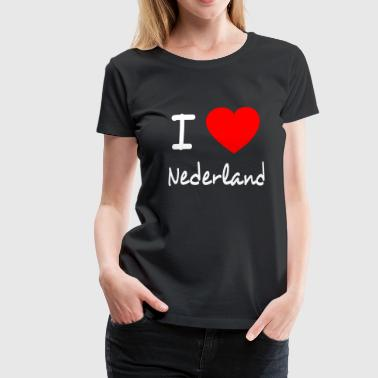 I LOVE THE NETHERLANDS - Vrouwen Premium T-shirt