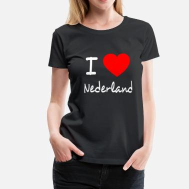 Ik Hou Van Holland I LOVE THE NETHERLANDS - Vrouwen Premium T-shirt