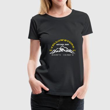 Yellowstone National Park 1872 Længdegrad Latitude - Dame premium T-shirt