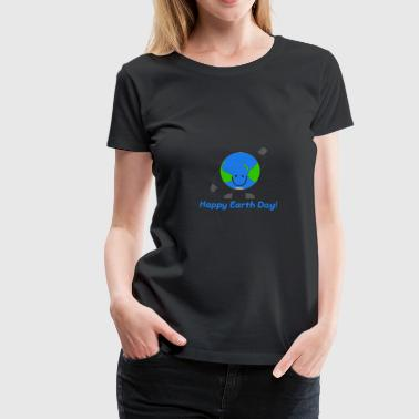 Clean Earth Globe Emoticon Happy Earth Day - Keep Earth Clean - Women's Premium T-Shirt