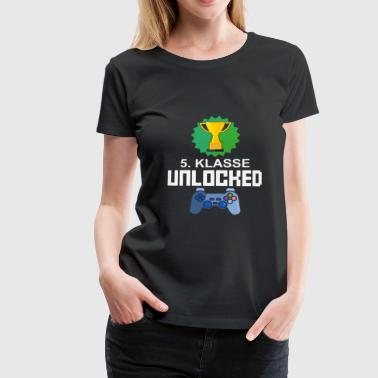 Level Unlocked 5. Klasse Gamer Geschenk Gaming - Frauen Premium T-Shirt