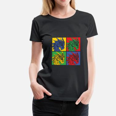 Imagine Dragons Dragon Popart - Vrouwen Premium T-shirt