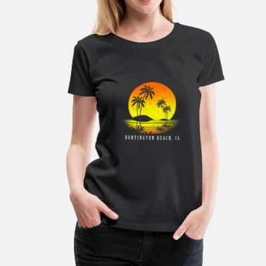 Hollywood California Huntington Beach - Camiseta premium mujer