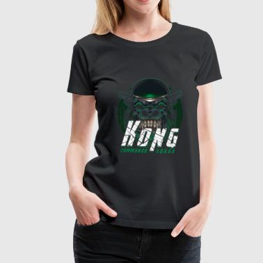 Speciale Eenheid Monkey With Weapon - Gorilla Kong Commando Squad - Vrouwen Premium T-shirt