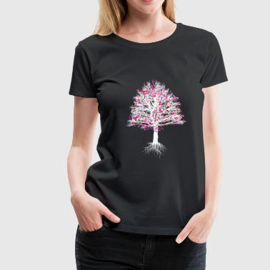 Tree with notes gift nature musician shirt music - Women's Premium T-Shirt