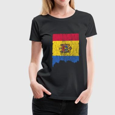 Moldova Flag Used Look Gift Idea - Women's Premium T-Shirt