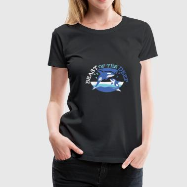 Deep Throat Orca Sea Sea Deep - Premium-T-shirt dam