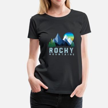 Rocky Mountains Vintage Rocky Mountains Retro National Park - Maglietta Premium da donna