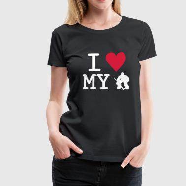 I Love My Goalie - Women's Premium T-Shirt