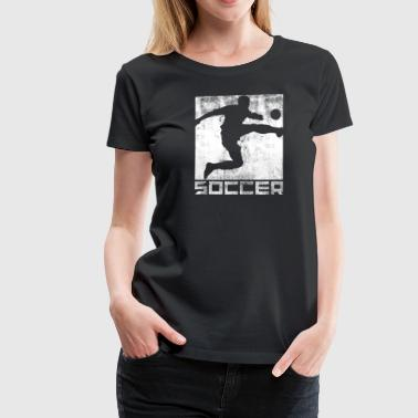 Football Pitch Soccer goal soccer team Sport running soccer field - Women's Premium T-Shirt