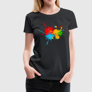 Ink, Paint, Color, Splashes, Splatter, Colour, Fun - Women's Premium T-Shirt
