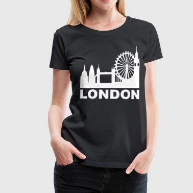 London-skyline London Skyline - Women's Premium T-Shirt