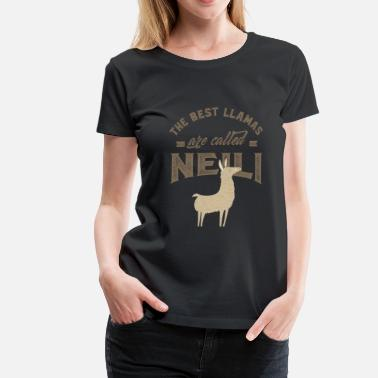 Long THE BEST LLAMAS ARE CALLED NEILI - Women's Premium T-Shirt