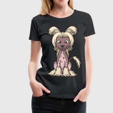 Chinese Crested Puppy Dog - Women's Premium T-Shirt