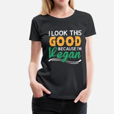 Slogan Animaux Vegan World Vegan Vegan Vegan Nutrition - T-shirt Premium Femme