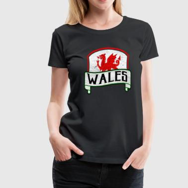 Dragon Flag Wales - Dame premium T-shirt