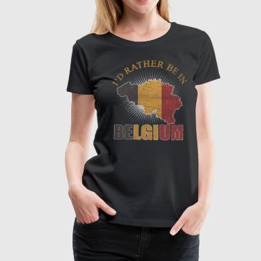 Belgium Flag Brussels Flag Nation Origin - Women's Premium T-Shirt