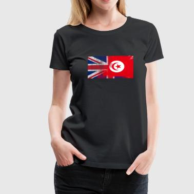 British Tunisian Half Tunisia Half UK Flag - Women's Premium T-Shirt