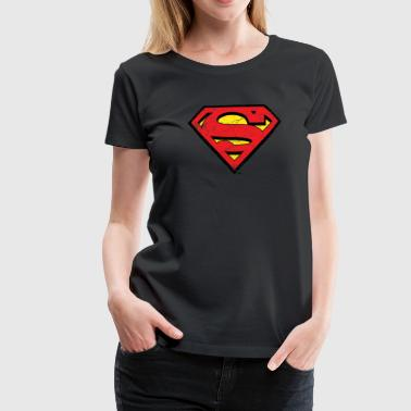 Superman S-Shield Used Look 1 Vrouwen T-Shirt - Vrouwen Premium T-shirt