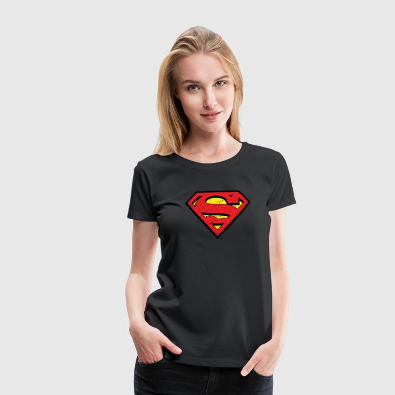 DC Comics Superman Logo Used Look - Frauen Premium T-Shirt