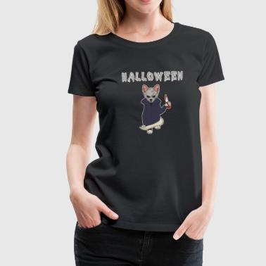 Kill Kitty Halloween Katze Horror Kater Messer Miau Geschenk - Frauen Premium T-Shirt