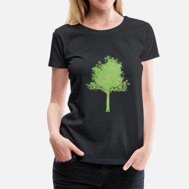 Tree tree green gradient ombre - Women's Premium T-Shirt