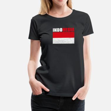 Staatsmotto Indonesien - Frauen Premium T-Shirt