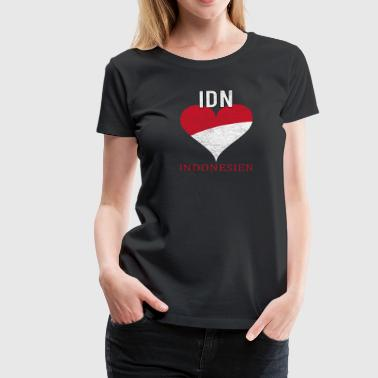 Indonesia flag Bali nationality origin - Women's Premium T-Shirt