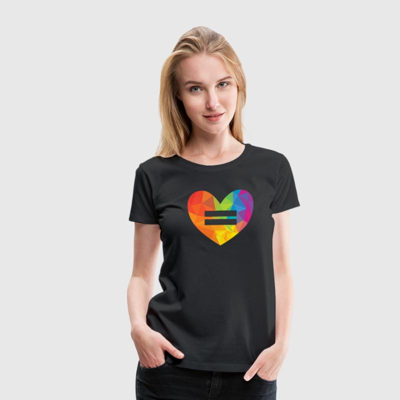 Rainbow Equality Heart - Women's Premium T-Shirt