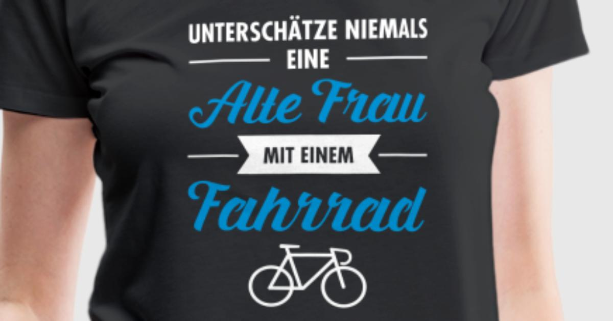 alte frau fahrrad von yakoazon spreadshirt. Black Bedroom Furniture Sets. Home Design Ideas