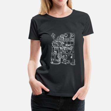 Robin the robot and just bird (white) - Women's Premium T-Shirt