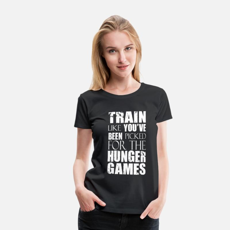 Crossfit T-Shirts - Train Like You've Been Picked for the Hunger Games - Women's Premium T-Shirt black