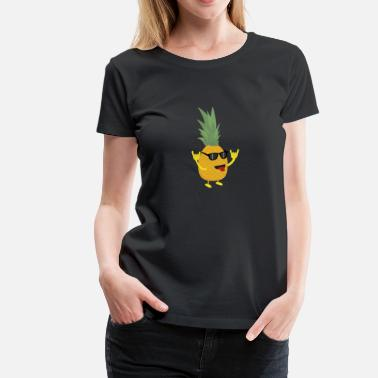 Pineapple rock'n'roll pineapple - Women's Premium T-Shirt