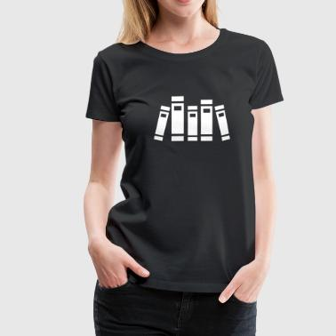 Library Books - Women's Premium T-Shirt