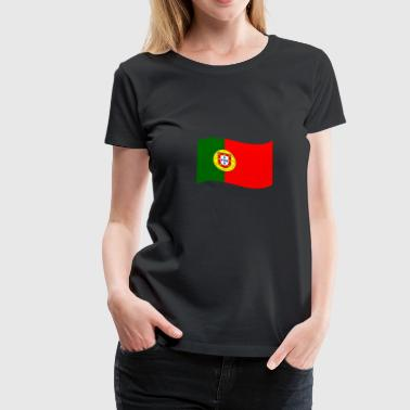 Flag of Portugal / wave - Women's Premium T-Shirt
