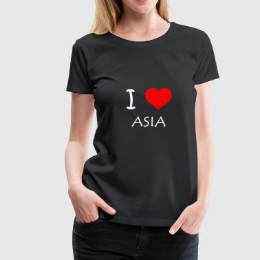 I Love ASIA - Women's Premium T-Shirt