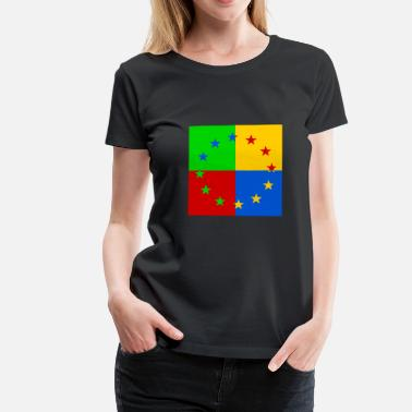 Pop Star Europe star pop art - Women's Premium T-Shirt