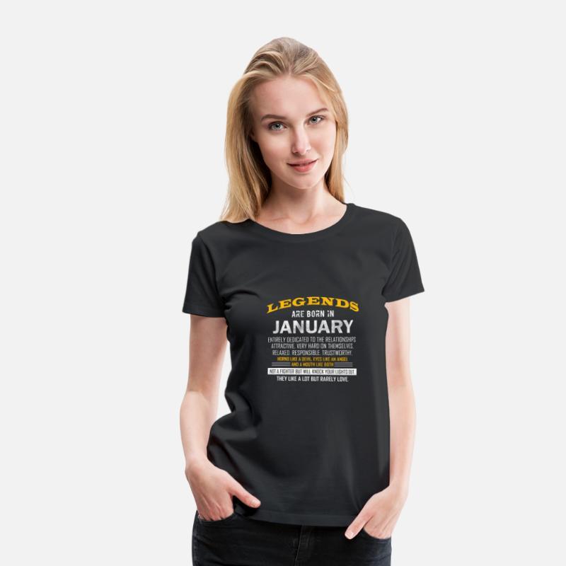 Legends Januar Coole Spruche Geburtstag Frauen Premium T Shirt