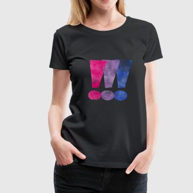 Awareness Bisexual Pride Exclamation Points - Women's Premium T-Shirt