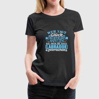 LABRADOR - Lucky to pet - Women's Premium T-Shirt