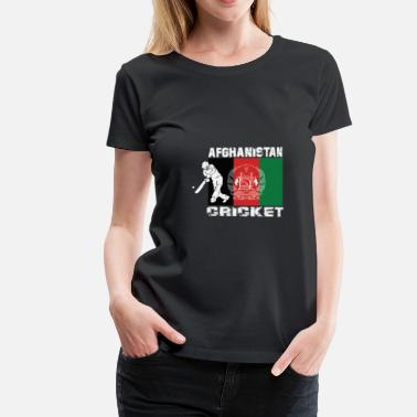 Gærdespiller Afghanistan cricket player flag - Dame premium T-shirt