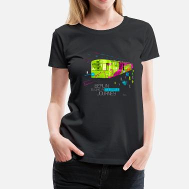 Berlin Berlin is like a colorful journey - Frauen Premium T-Shirt