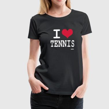 i love tennis by wam - Vrouwen Premium T-shirt