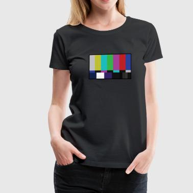 TV Test Pattern Widescreen HD - Women's Premium T-Shirt