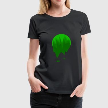 Tone Paint ball with green tones - Women's Premium T-Shirt