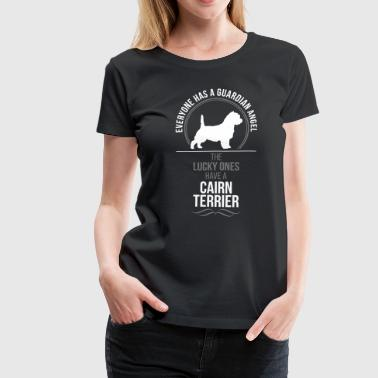 CAIRN TERRIER Guardian Angel Wilsigns - Vrouwen Premium T-shirt